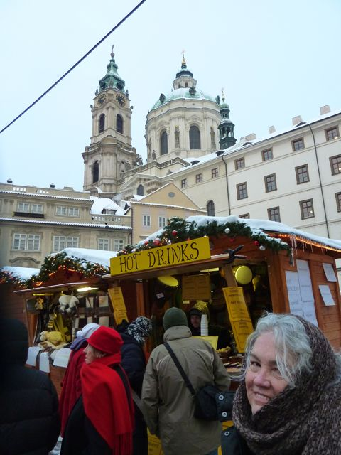 Christmas Markets were everywhere ... and Prague provided a wonderful background for them.