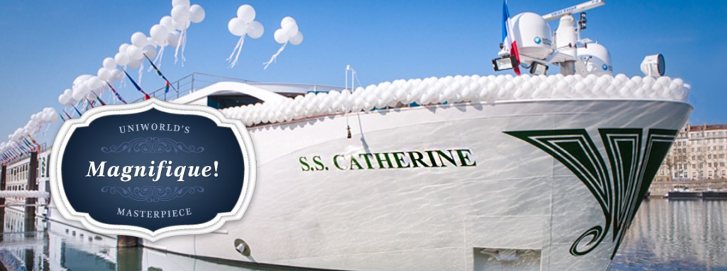 Then we boarded Uniworld's fantastic new Super Ship the S.S. Catherine through Burgundy and Provence!
